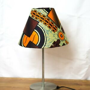 Drum lightshades lampshade made with african ankara print fabric (made to order)