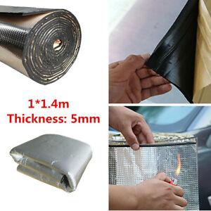 5mm Car Alumium Noise Insulation Hood Mats Engine Heat Mat Sound-Absorbing Pad