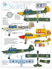 Mike Grant Decals, Fieseler Fi-156 Storch, MG 48-008, Damaged Decal Sheet, 1/48