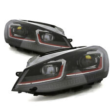 15-17 Volkswagen Golf GTI Facelift Xenon Headlamp w/ LED Switchback DRL Red Bar