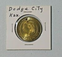 Vtg Souvenir of Boot Hill & Front Street Dodge City, Kansas Metal Token 8491