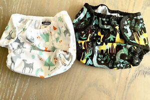 Thirsties Snap Duo Wrap Diaper Cover Size 1 (Set Of 2 w/ Snappi Diaper Fasteners