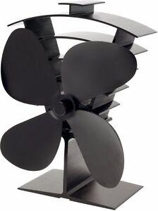 Valiant Premium 4 Blade Heat Powered Log Burner Stove Fan - FIR361