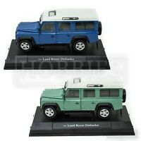 Cararama Land Rover Defender 110 1/24 Scale LWB Blue Green Oxford Diecast Model