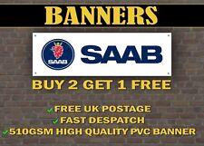 SAAB Car Banner for Garage / Shop / Promotional Item, Custom Banners!