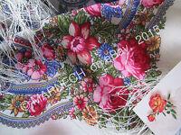 Authentische Pawlow Pavlovo Posad Tuch 100% Wolle 89x89 cm Russischer Schal Neu