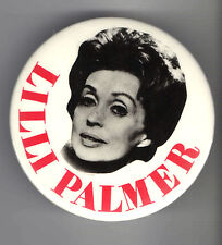 1960s pin LILLI PALMER pinback Great Film ACTRESS button