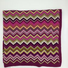 Missoni For Target Chevron Knit Baby Blanket Purple Pink Green Gray