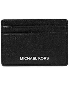 Michael Kors Money Pieces Card Holder Black Retail $58