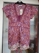NWT BHS Petites 'Nomad' 100% Cotton Embellished Tunic Top Size 8