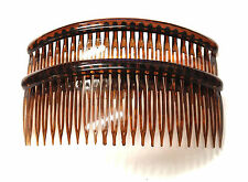 Pack of 2 12cm Hair Combs Hair Slides Black Tort Hair Comb Plastic