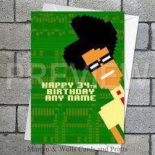 IT Crowd / Maurice Moss personalised birthday card. 5x7 inches.