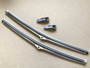 "Pair of 16"" Inch Classic Car Silver Wiper Blade Trico 33-162 Pin/Bayonet Style 2"