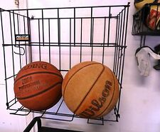 Sports Storage Rack for Garage, Wall-mounted, for Bats, Balls, Gloves, Shoes