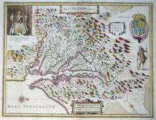 USA AMERIKA VIRGINIA NOVA VIRGINIAE TABULA MARYLAND JOHN SMITH HONDIUS 1631