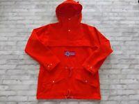 Deadstock VTG J.Peterman Men's Hooded Pullover Anorak Cotton Canvas Jacket S/M