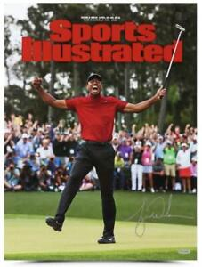 "TIGER WOODS Autographed 2019 Masters 15"" x 20"" Sports Illustrated Photo UDA"