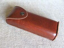 Vertical Waist Case for Glasses, PU Leather Eyeglasses Belt Case