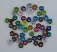 50 OEillets ronds mélange de couleurs