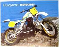HUSQVARNA Motocross 125CR 250CR Original Motorcycle Sales Sheet German