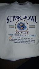 Vintage 1994 Super Bowl XXVIII Sweatshirt Mens XL Cowboys Bills Georgia Dome