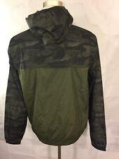 Oneill Green Camo Wind Breaker Full Zipper Hoddie Jacket Sz XL KJB