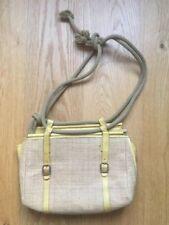 MARNI yellow leather/wicker rope detail handbag