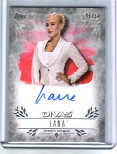 WWE Lana 2016 Topps Undisputed Silver On Card Autograph SN 40 of 50