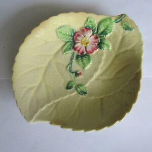 Vintage Ceramic Carlton Ware Leaf Dish Made in England  Impressed 21084