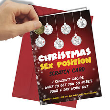 Rude CHRISTMAS CARD Funny Scratch Card Him Her Sex Position #1455