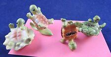 Josef Originals Japan Turtle Standing on Head Sliding Flower Figurine Lot Rare
