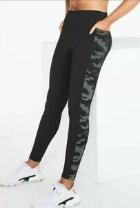 XL Victoria Secret  Pink NEW  Ultimate V Legging Pure Black  Camo Extra Large