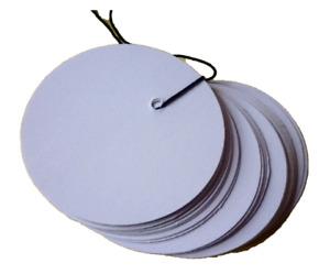 (0,076€/St.) 50 Preisschilder Kreis Anhänger Geschenkanhänger Etiketten stanzen