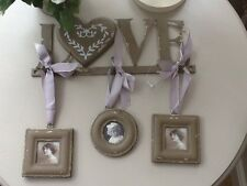 Shabby Chic Job Vintage Distressed Love Wall Metal Hanger With Individual Frames