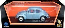VW Volkswagen Beetle 1:18 SCALA DIECAST MODELLO AUTO Giocattolo Modelli Auto Blu in miniatura