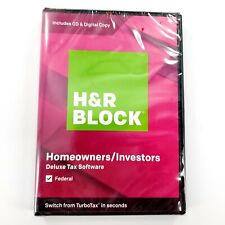 H&R Block Home Owner/Investor Federal 2019 Tax Software- NEW