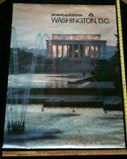 Vintage 1970's-80's American Airlines ORIGINAL Poster WASHINGTON DC