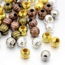 Paquet 20 x Mixte Fer Plaqué 8mm Plaqué Intercalaires Rond Perles HA15130