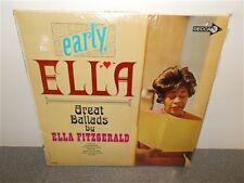 Ella Fitzgerald . Early Ella . Great Ballads . Decca . Shrink . LP
