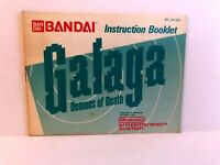 Galaga NES MANUAL ONLY Original Nintendo