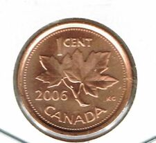 2006-P Canadian Brilliant Uncirculated One Cent Steel Core Coin!