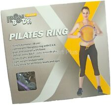 """15"""" Pilates Ring EVA Foam Grips Arms Back Chest Yoga Fitness Trainer Iron Body"""