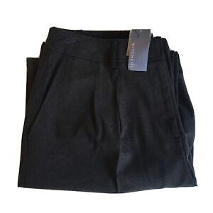Witchery Size 14 Womens Black Pants Straight Leg Pockets Business Corporate BNWT