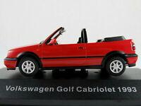 DeAGOSTINI #37 VW Golf III Cabriolet (1993-1998) in rot 1:43 NEU/PC-Vitrine