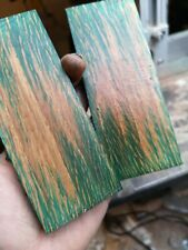 Stabilized Blank blue oak, bookmatched knife scale