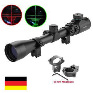 3-9x40EG Jäger Zielfernrohr Rifle Scope Montagen 11mm für Armbrust Luftgewehr