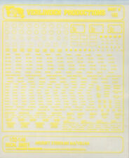 Verlinden Productions 1:32 1:48 Aircraft Stenciling 3 Yellow Transfer Sheet #168