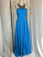 Vintage Inspired 1930's Blue Beaded Evening Gown