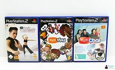 Playstation PS2 Spiele Set Paket - 3x EyeToy: Chat, Play und Kinetic Combat