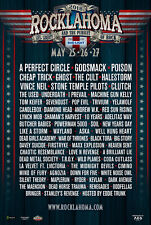 Rocklahoma 2018 Concert Tour Poster-A Perfect Circle,Godsmack,Poison,Ch eap Trick